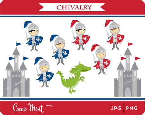 Chivalry Clip Art by cocoamint on Etsy, $5.00.