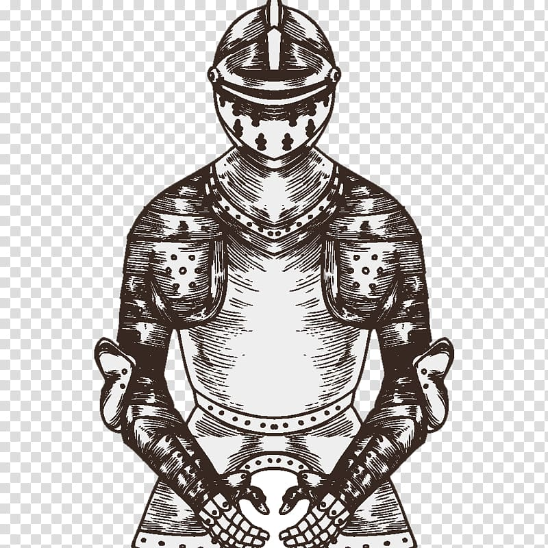 Middle Ages Knight Chivalry, medieval knight transparent.