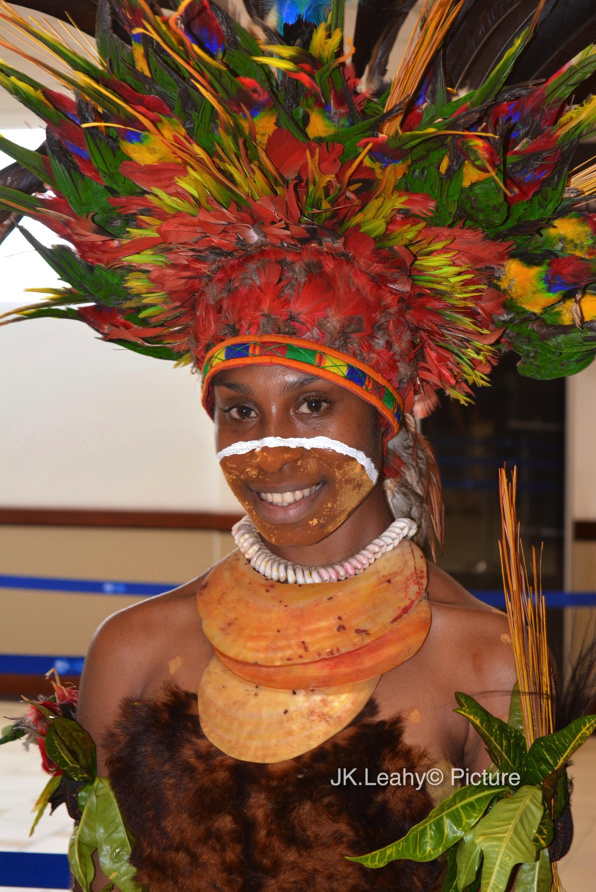 Simbu Province cultural dress.