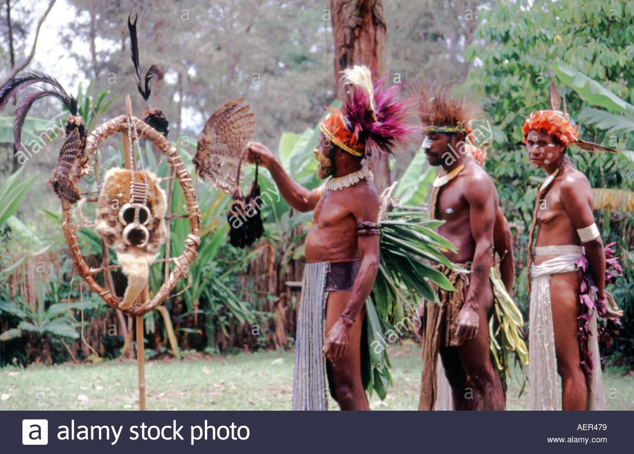Simbu Tribe Sing Sing Highlands Papua New Guinea Stock Photo.