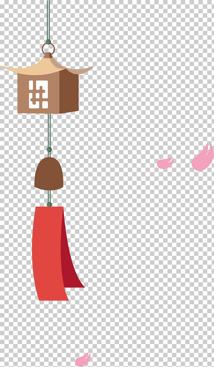 Japan Wind chime, Cartoon Japanese wind chimes PNG clipart.