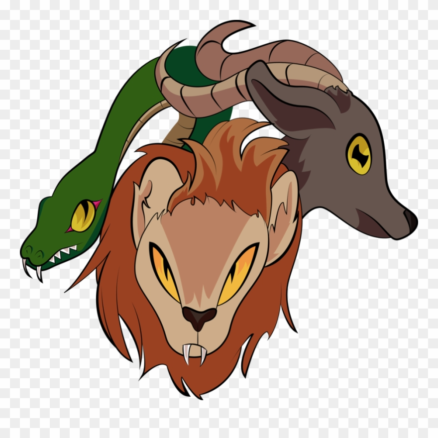 Clip Art Transparent Library Chimera Drawing Two Headed.