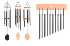 Wind Chimes Stock Illustrations.
