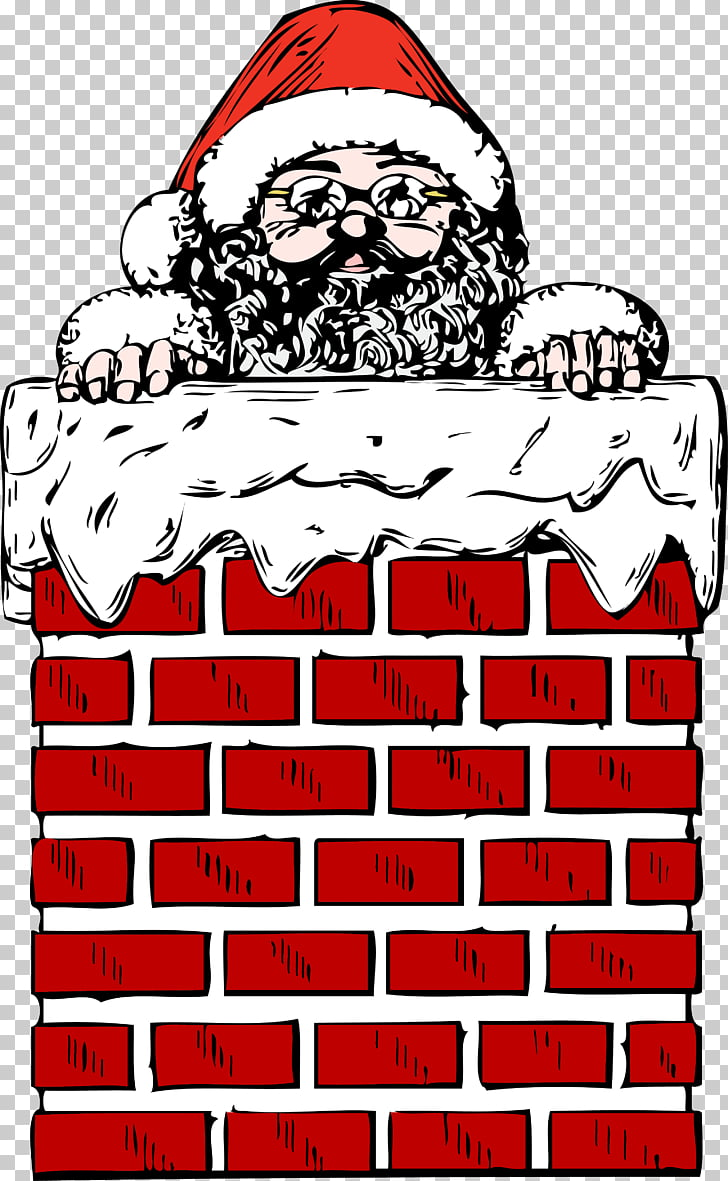 Santa Claus Chimney Christmas Fireplace , chimney PNG.