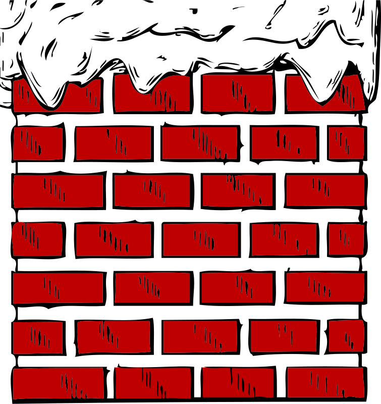 Free Clipart: Chimney with snow.