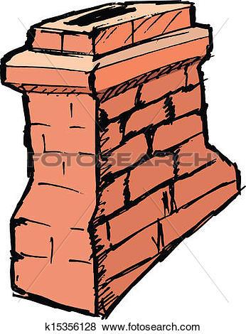 Clip Art of chimney k15356128.