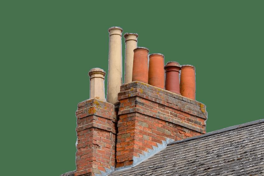 Chimneys on Roof transparent PNG.