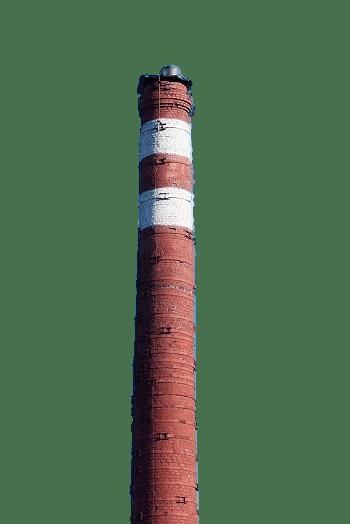Brick Industrial Chimney transparent PNG.