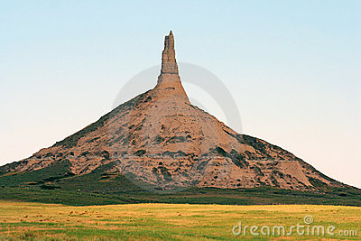 Chimney Rock, Nebraska Stock Image.