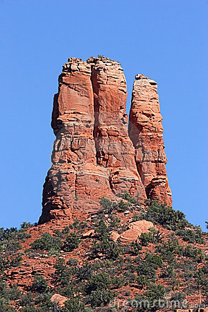 Chimney Rock In Sedona Arizona Royalty Free Stock Photos.