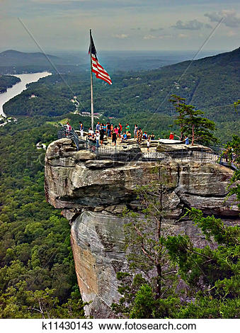 Stock Photo of chimney rock nc k11430143.