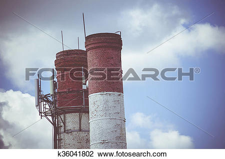 Stock Photo of Industry Chimney Stack k36041802.