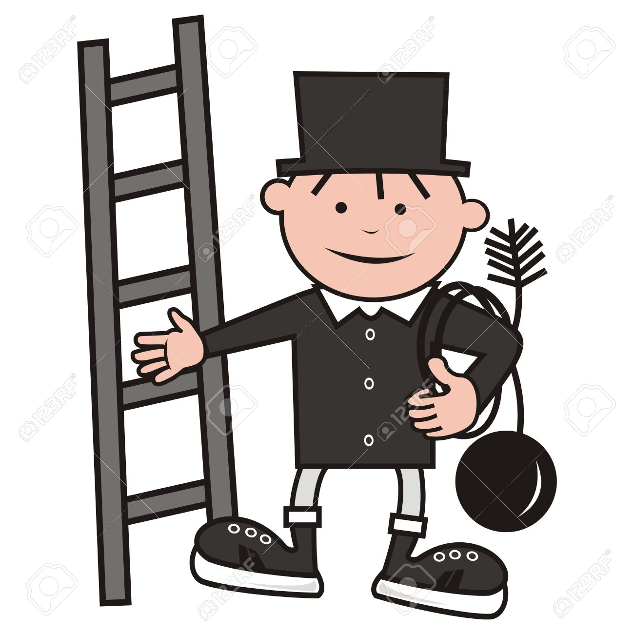 Chimney sweep clipart #5