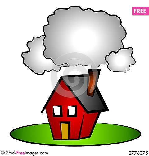Chimneys with smoke clipart #2