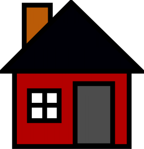 Chimney with house clipart #1
