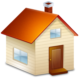 Brown House With Chimney Icon, PNG ClipArt Image.