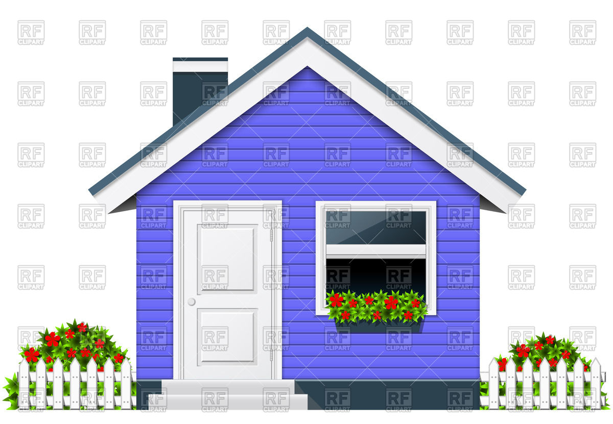 Chimney with house clipart #3