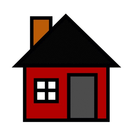 Chimney with house clipart #8