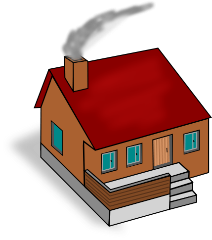Chimney with house clipart #4