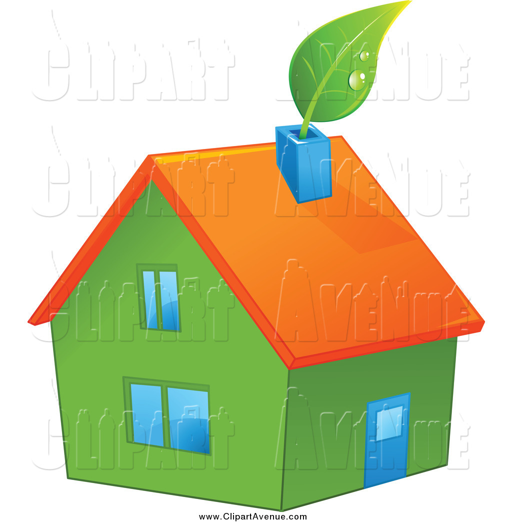 Chimney with house clipart #17