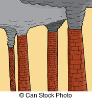 EPS Vector of Old Brick Chimneys.