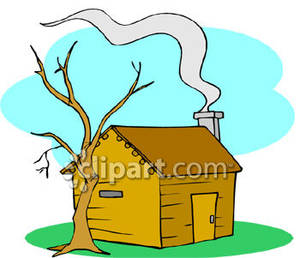 Chimneys with smoke clipart #4