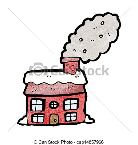 Chimneys with smoke clipart #6