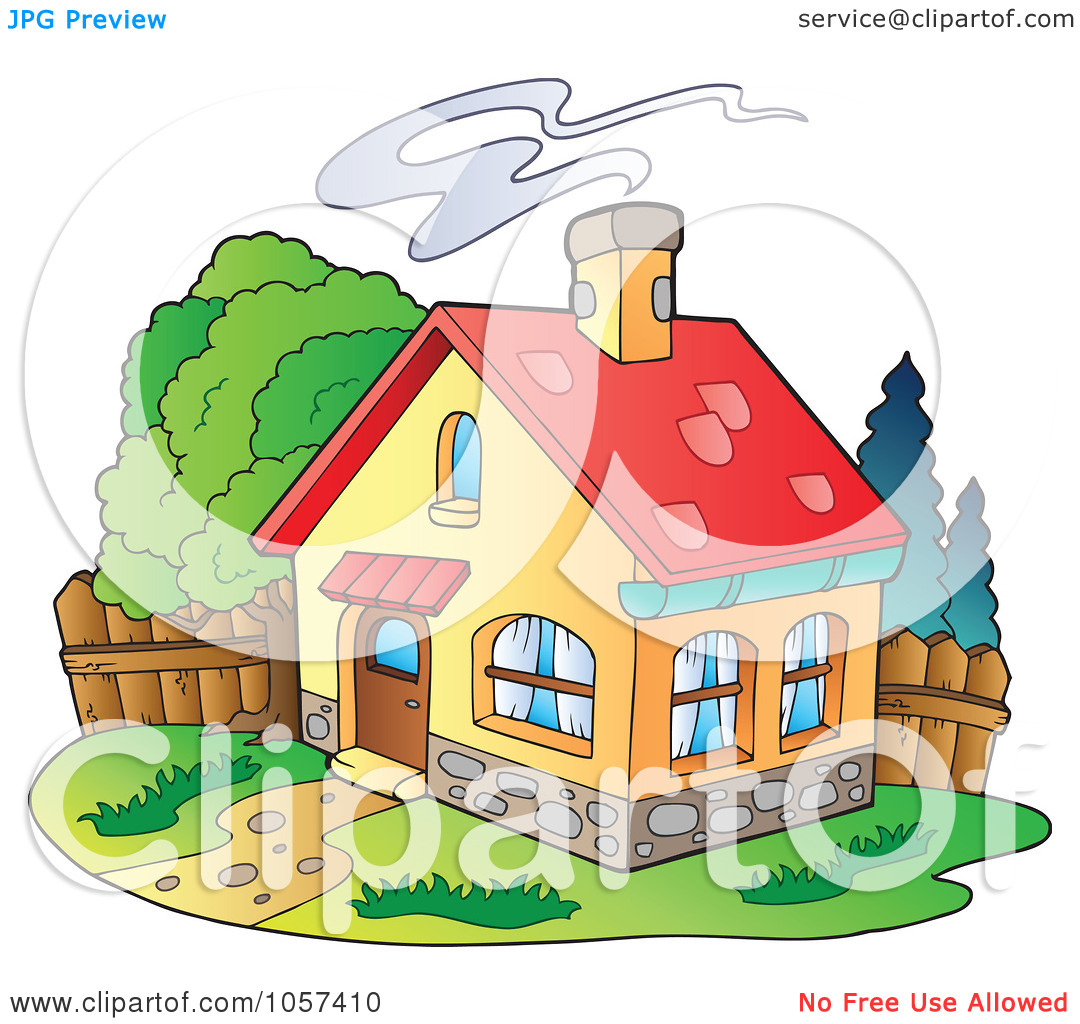 Chimneys with smoke clipart #12