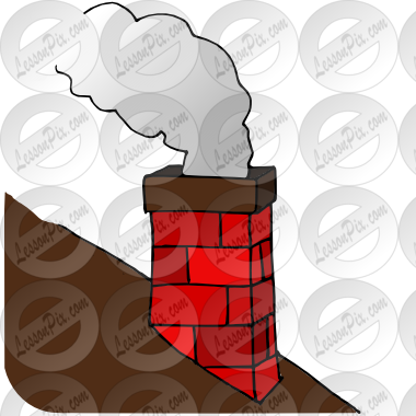Chimneys with smoke clipart #11