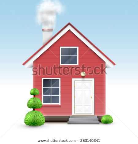 Chimneys with smoke clipart #8