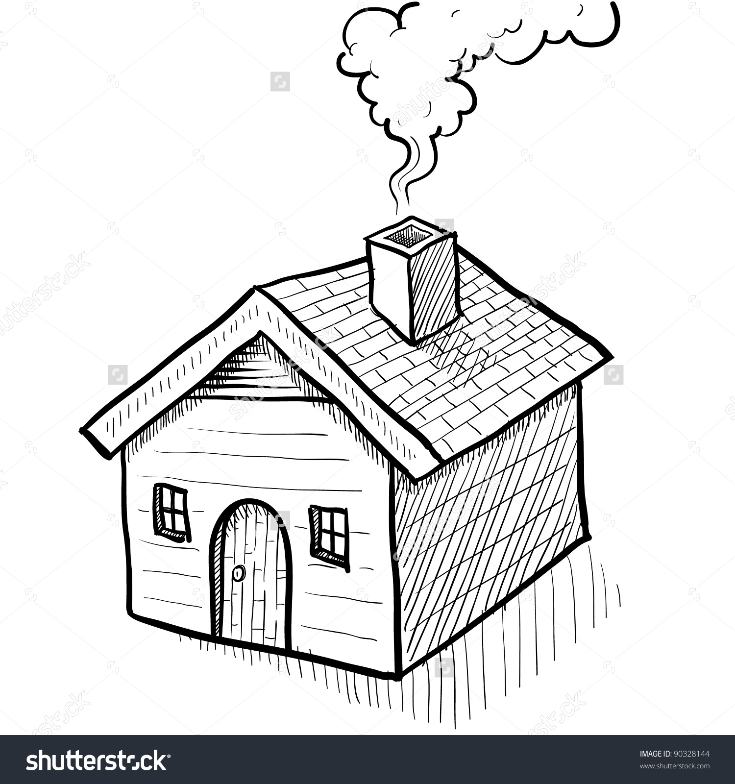 chimneys with smoke clipart clipground