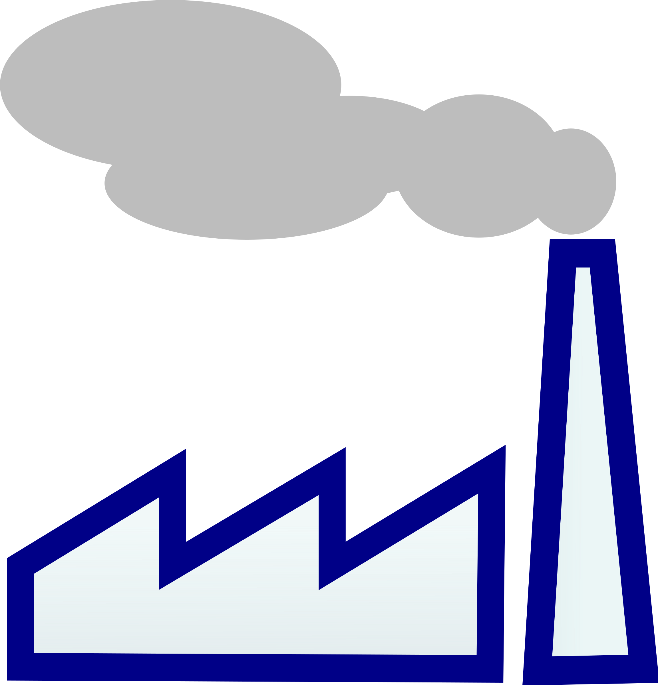 Chimneys with smoke clipart #7