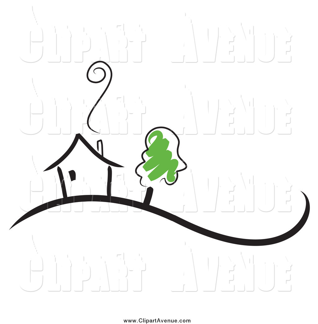 Chimneys with smoke clipart #3