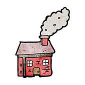 Chimneys with smoke clipart #20