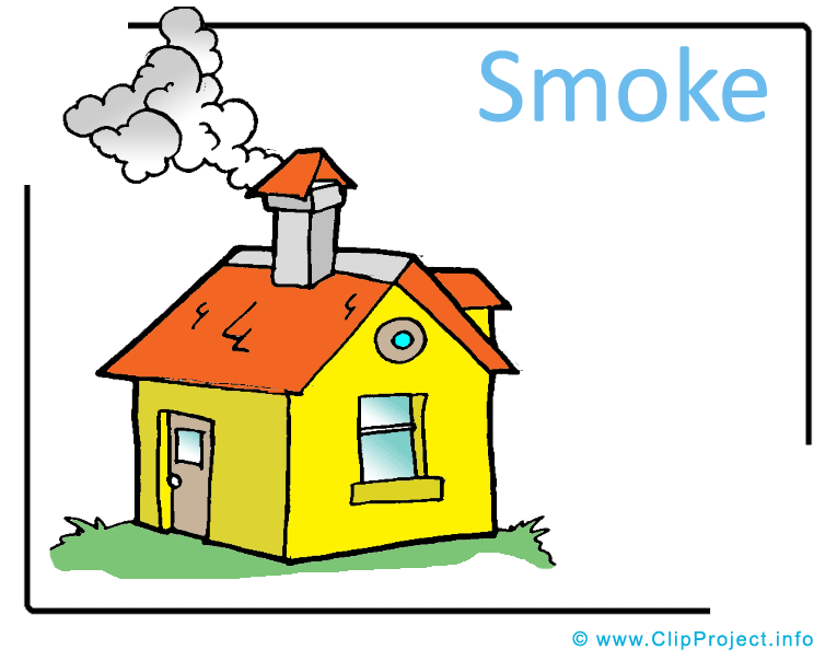 Chimneys with smoke clipart #16
