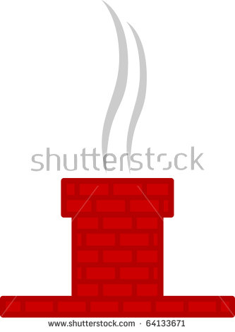 Chimneys with smoke clipart #19