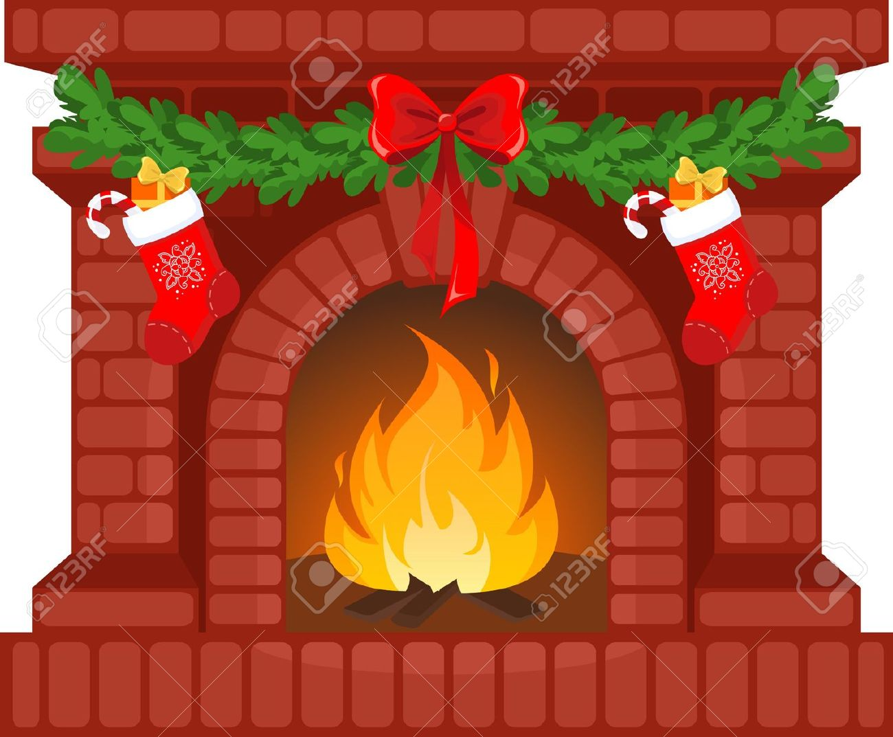 Christmas chimney clipart.