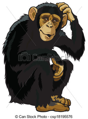 Chimpanzee Illustrations and Clipart. 5,673 Chimpanzee royalty.
