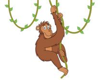Free Chimpanzee Clipart.