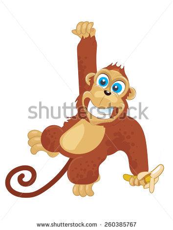 Monkey Swinging Stock Photos, Royalty.