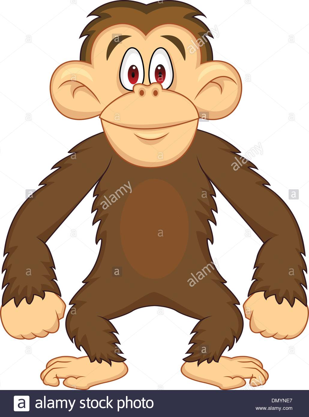 Chimpanzee cartoon Stock Vector Art & Illustration, Vector Image.