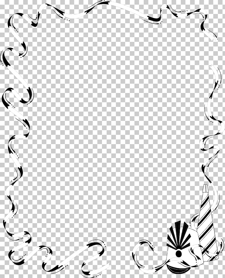 Borders and Frames Party , chin border template PNG clipart.