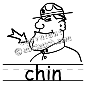 Chin clipart.