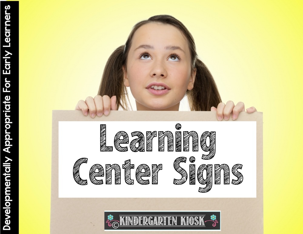 Learning Center Signs: Dress up the classroom & Inform the.
