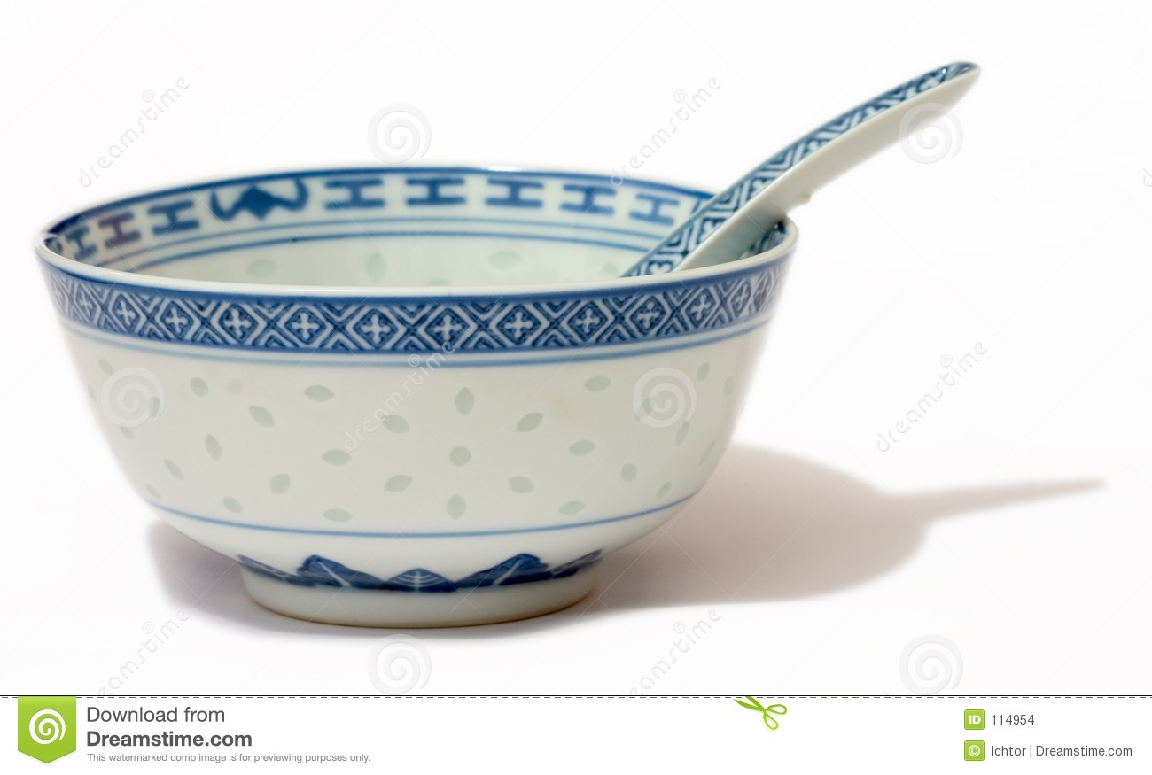 Chinese Bowl And Spoon Royalty Free Stock Photos.