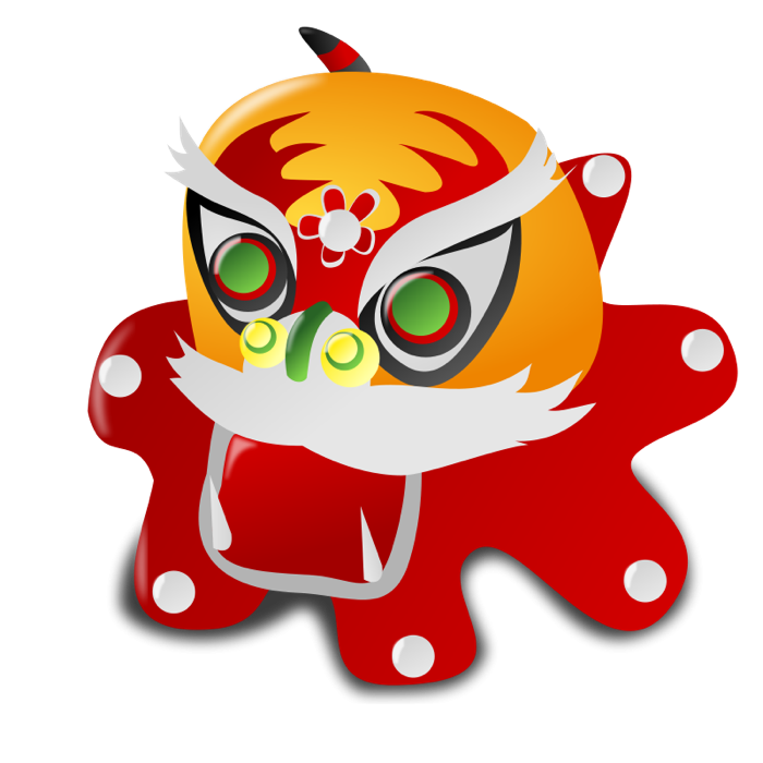 Free Clipart of Chinese Dragons.