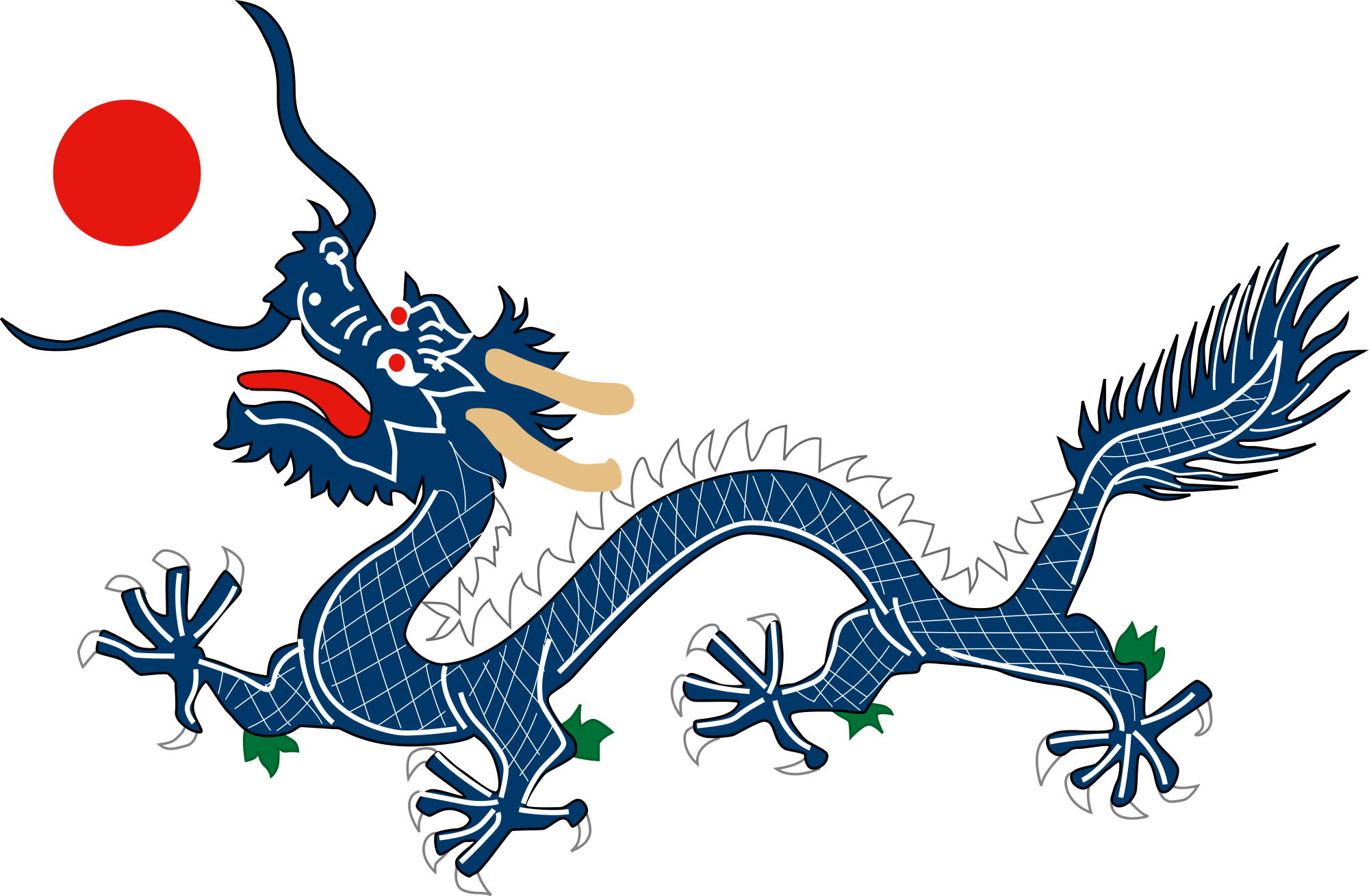 File:Dragon from China Qing Dynasty Flag 1889.svg.