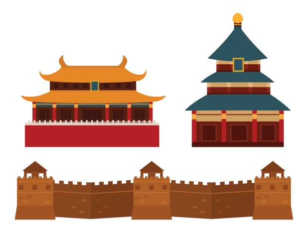 Best Great Wall Of China Illustrations, Royalty.