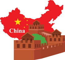 Clipart china map.