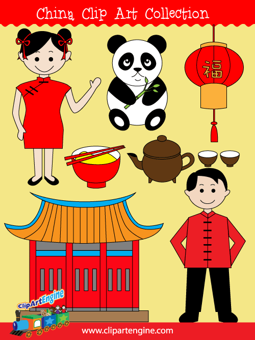 China Clip Art Collection for Personal and Commercial Use.